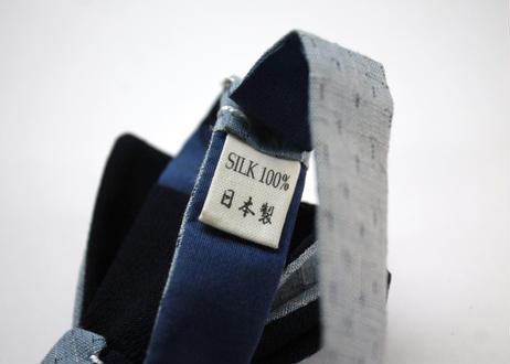 蝶ネクタイ KIMONO fabric 紬縮緬 上京蝶帯 #661