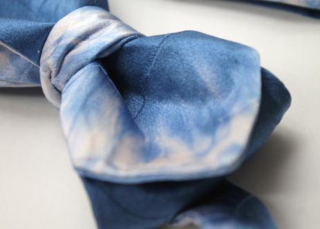 蝶ネクタイ KIMONO fabric 空 ぼかし染 上京蝶帯 #577