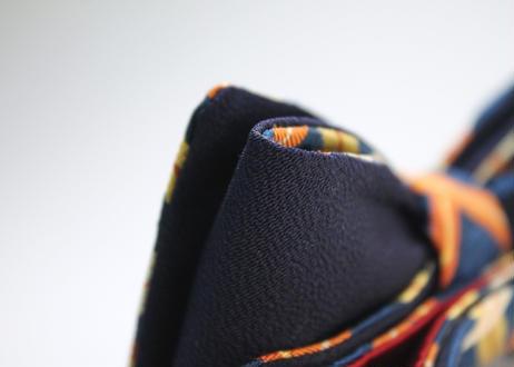 蝶ネクタイ Noh fabric 緞子 格子 上京蝶帯 #656