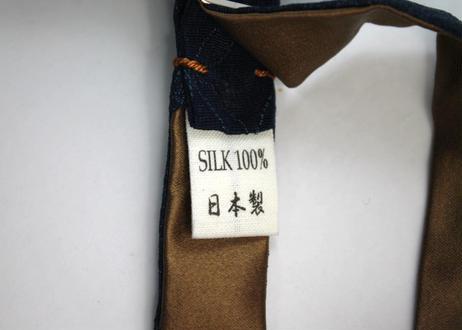 蝶ネクタイ KIMONO fabric 七宝文様 上京蝶帯 #628