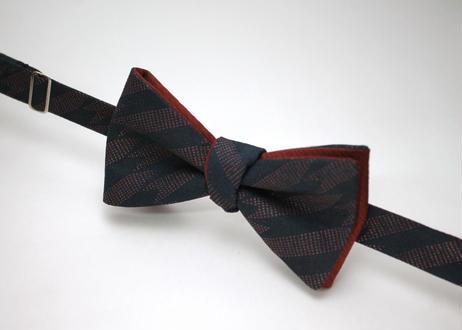 蝶ネクタイ KIMONO fabric 矢絣 印傳加工 上京蝶帯 #448