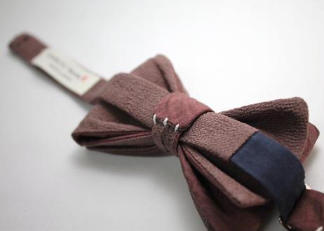 蝶ネクタイ KIMONO fabric 青海波文様 上京蝶帯 #633