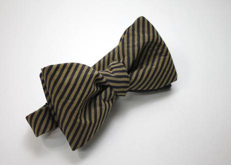 蝶ネクタイ KIMONO fabric 縞 上京蝶帯 #580