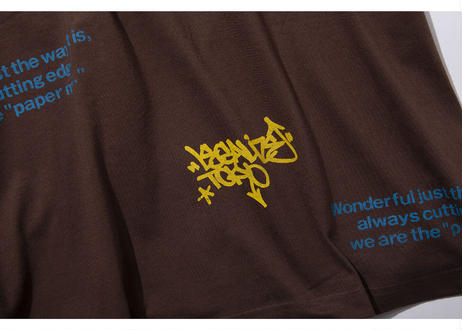 PAPER MIC × LEGALIZE カスタムTシャツ |BROWN
