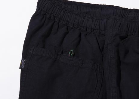 GOHEMP × PAPER MIC Shorts  -BLK-
