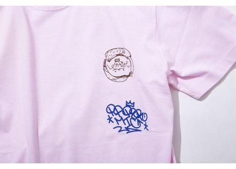 PAPER MIC × LEGALIZE カスタムTシャツ |L.PINK