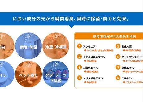除菌率99.9%。除菌・消臭・防カビ剤 パナセア 500ml