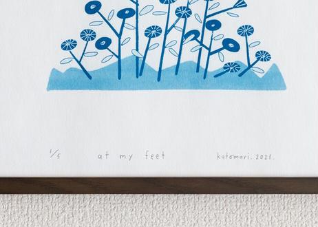 サイアノタイプ作品 <at my feet>