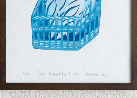 サイアノタイプ作品 <for breakfast -1->