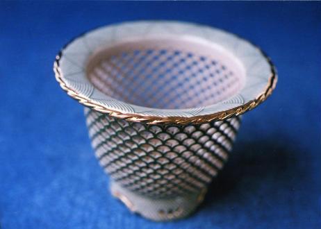F11365 透かし彫り鉢《外径・10.9cm》(n106)