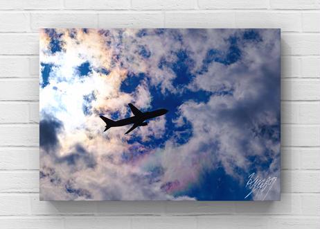 彩雲と飛行機