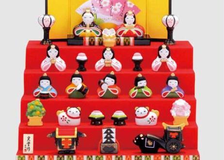★ひな祭りを飾る★ 縁起の良い雛人形【錦彩 花かざり雛(5段飾り・7段飾り)】