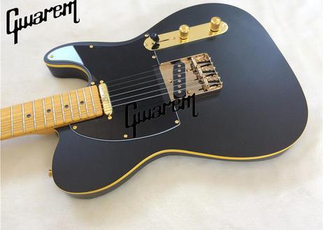 エレキギター テレキャスタータイプ ソリッドボディ 39インチ ブラック ノーブランド プロ仕様