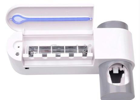 Antibacteria UVライト 紫外線 歯ブラシ 自動歯磨き粉 ディスペンサー 歯ブラシホルダー 歯科衛生 虫歯予防