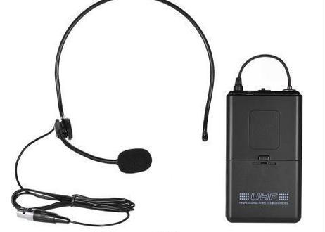 DJ カラオケ用 トランスミッター ヘッドセット マイク UHF デュアルチャンネル ワイヤレスマイク マイクシステム