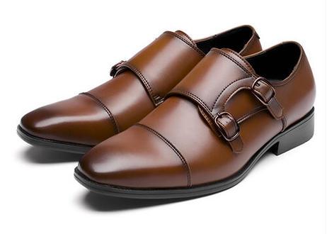 ビジネスシューズ モンクストラップ 革靴 メンズ 紳士靴 撥水 傷つきにくい 軽量 黒 茶