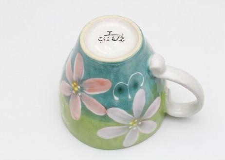 ★毎日使うマグ★ こはる工房【白盛花】