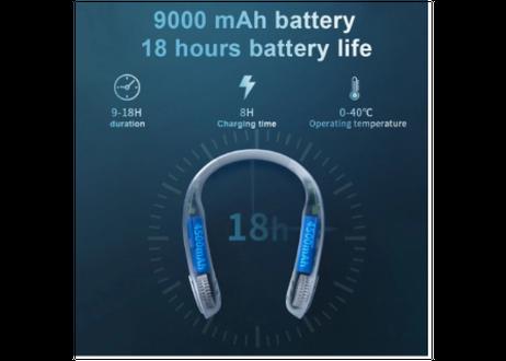 タイプCケーブル充電式ウェアラブルミニネックファン