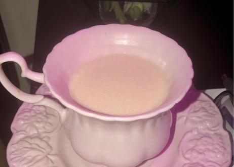 エレガントなピンクコーヒーカップ & ソーサースプーンセット 180 ml