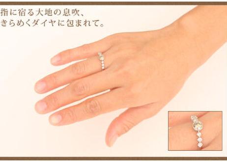 【me on...】K18ホワイトゴールド(WG)ブラウンダイヤモンド&ダイヤモンドリング