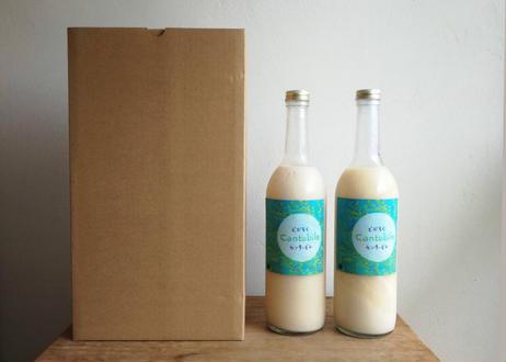 【2本セット】Dry & Creamy!酵母が活きた生どぶろく 「Cantabile」《活性酵母・非加熱・無添加》