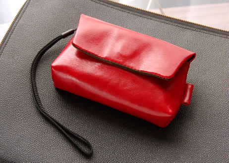 《Horse Leather》コンパクトカメラ用レザーカメラケース バーガンディー