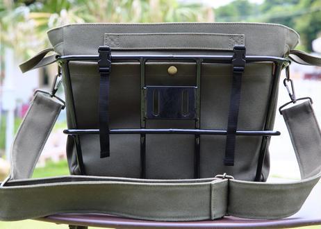 レギュラーバッグ(カーキ)+ アルミバスケット (ブラック) セット