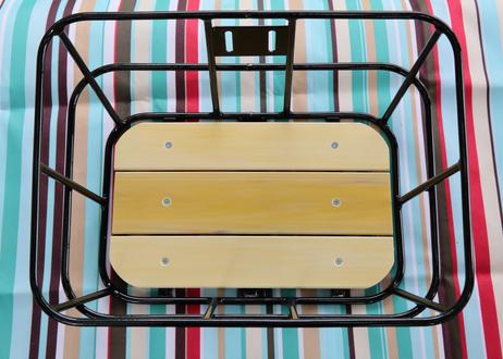 ワイドバッグ(レッド)+ アルミ樹脂製底板バスケット(ブラック)セット