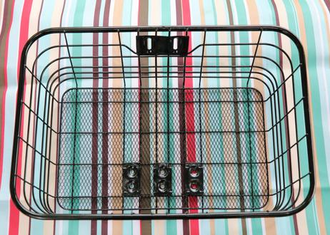 ワイドバッグ  (レッド) + 底メッシュパイプワイヤーバスケット