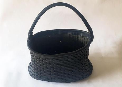 P 一粒舎 basket 1handle (ブラック / ダークブラウン )