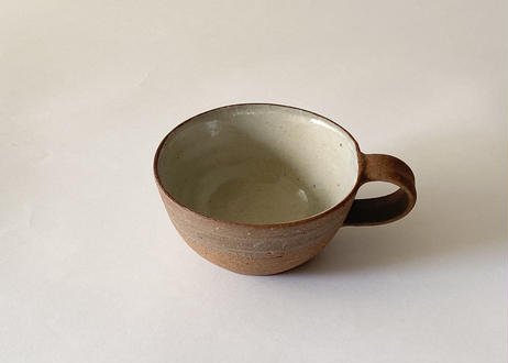 P 壷田 ち-123 スープカップ(かけ分け焼〆)
