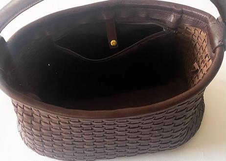 一粒舎 baguett 1handle (ブラック / ダークブラウン )