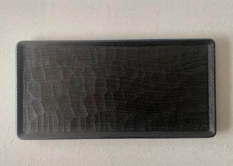 P 水野悠祐024 隅切りトレイ18 x 36cm(栗・黒漆)