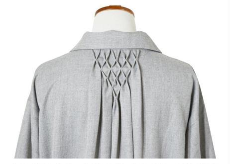 スモック刺繍スキッパーワンピース