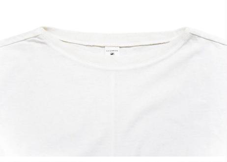 ニット衿ラッフルフレアーTシャツ