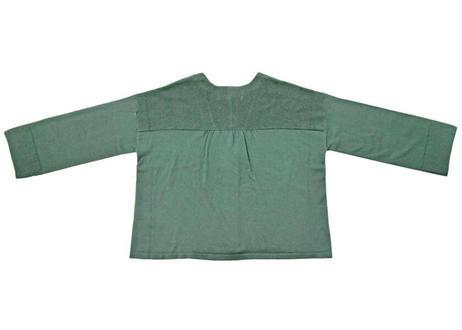 フロント畦編みカーディガン