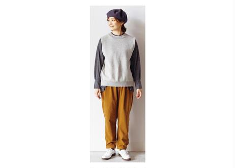 裾カフス付きテーパードパンツ