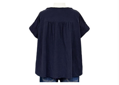 部分布帛使いTシャツ