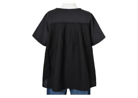 カットソー×布帛切替Tシャツ
