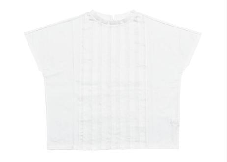 タック布帛切替Tシャツ