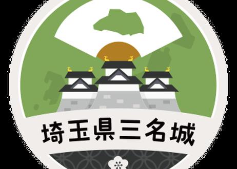 缶バッジ【埼玉県三名城】