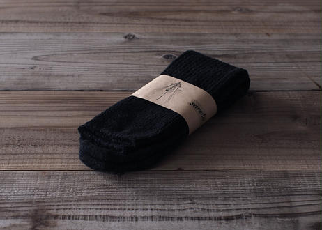 【saredo】靴下「Tatou」 (デニム/黒/灰)