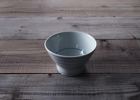 【砥部焼 / 梅山窯】くらわんか飯碗 (唐草/呉須巻/横鉄呉須線)