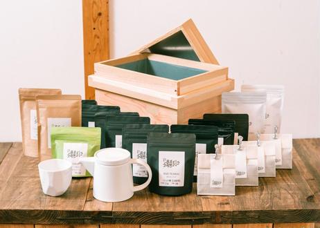数量限定 そのぎ茶&茶器セット in 茶箱