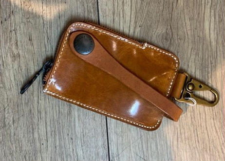 Leather Key Holder キャメル