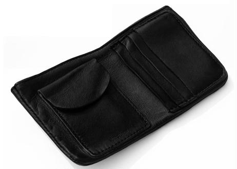 Leather Card Wallet ブラック