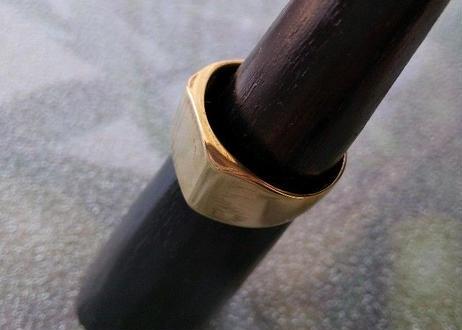 印台リング風 真鍮(しんちゅう)指輪 26号 #001