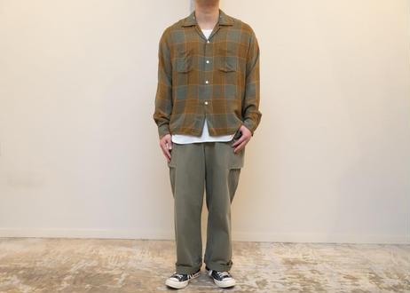 60s Checked rayon shirt