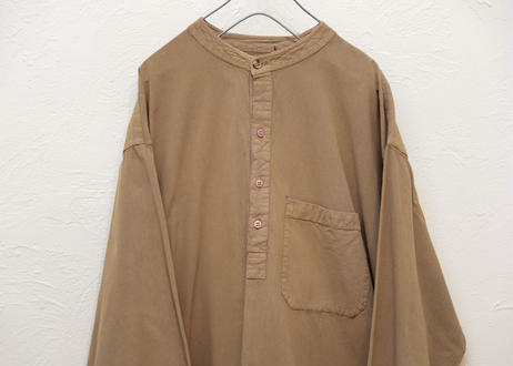 Band collar pullover shirt