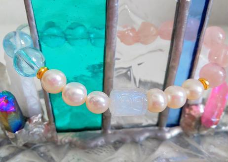 魚座 星座守護石ブレスレット